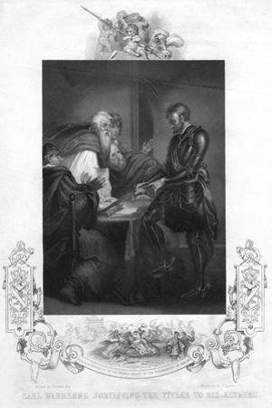 Earl Warenne Justifying the Title to His Estates by J Rogers
