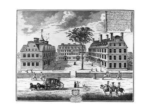 Early 18th-Century View of Harvard College