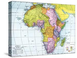 Early 20th Century Map of Africa
