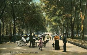 Early Central Park Mall, New York City