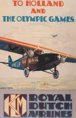 Early Dutch Airlines Travel Poster