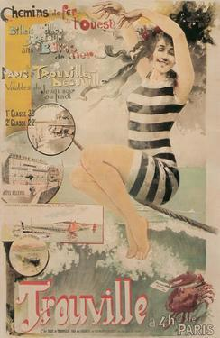 Early French Bathing Beauty, Trouville