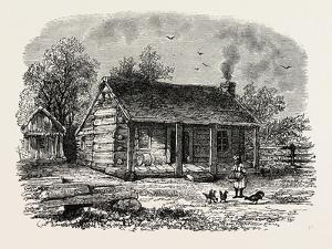 Early Home of Abraham Lincoln, Gentryville, Indiana, USA, 1870S