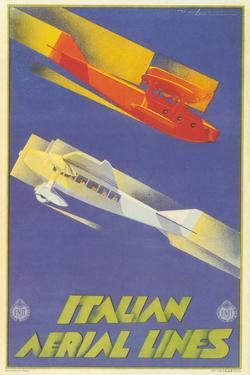 Early Italian Airlines Poster