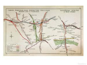 Early Map of the London Underground, Late 19th Century