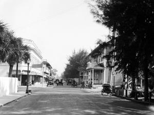 Early View of Automobiles on Main Street of Palm Beach