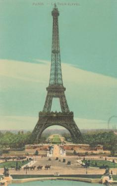 Early View of Eiffel Tower