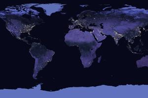 Earth at Night, Satellite Image