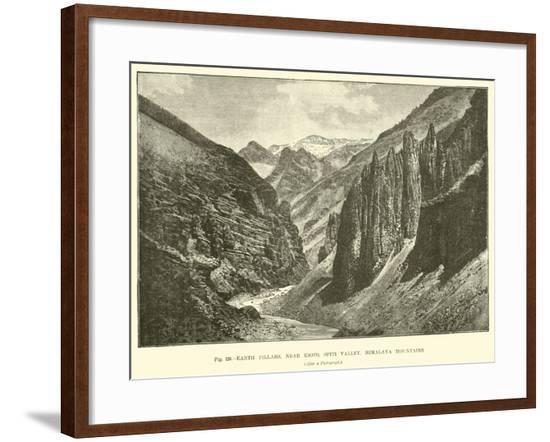 Earth Pillars, Near Kioto, Spiti Valley, Himalaya Mountains--Framed Giclee Print
