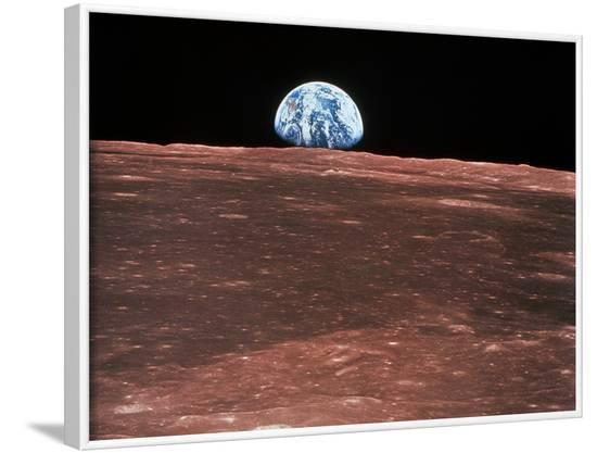 Earth Rising--Framed Photographic Print