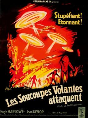 Earth vs. the Flying Saucers, French Movie Poster, 1956