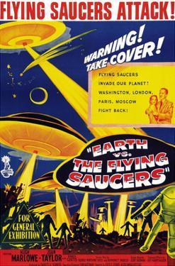 Earth vs. the Flying Saucers, Joan Taylor, Hugh Marlowe, 1956