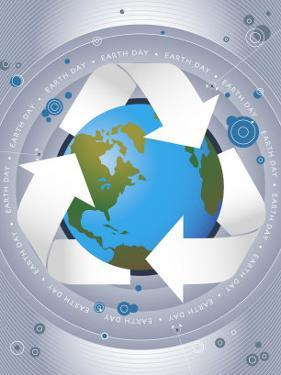 Earth with Recycle Sign