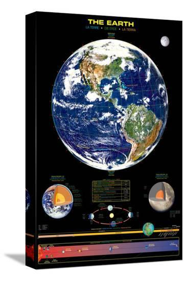Earth--Stretched Canvas Print