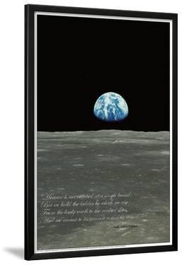 Earthrise (Earth Rising over Moon Horizon)