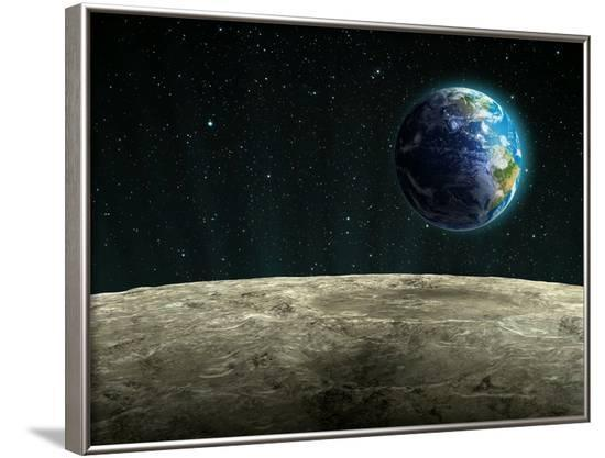 Earthrise from the Moon, Artwork--Framed Photographic Print