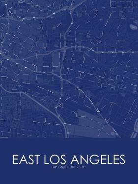 East Los Angeles, United States of America Blue Map