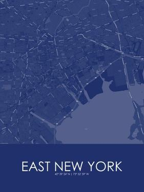 East New York, United States of America Blue Map