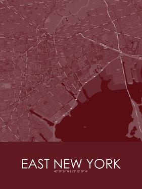 East New York, United States of America Red Map