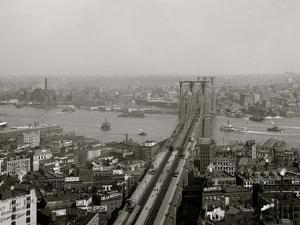 East River and Brooklyn Bridge, New York, N.Y.