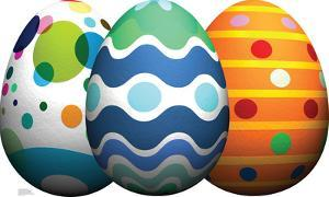 Easter Egg Grouping Lifesize Standup