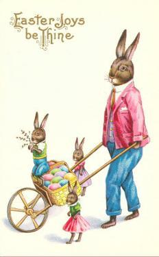Easter Joys be Thine, Rabbit and Wheelbarrow