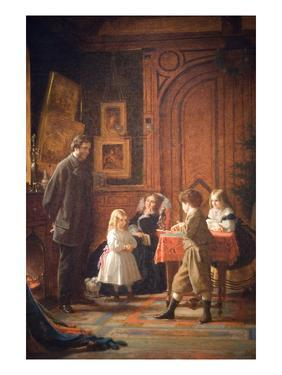 Christmas-Time, the Blodgett Family, 1864 by Eastman Johnson