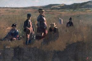 In the Field, C1875 by Eastman Johnson