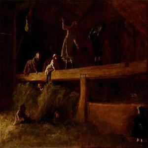 In the Hayloft, C.1878 by Eastman Johnson