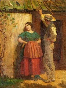 Rustic Courtship by Eastman Johnson