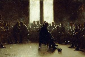 Study for the Nantucket School of Philosophy, 1876 by Eastman Johnson