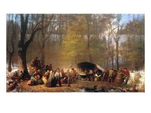 Sugaring Off at the Camp, 1864-66 by Eastman Johnson