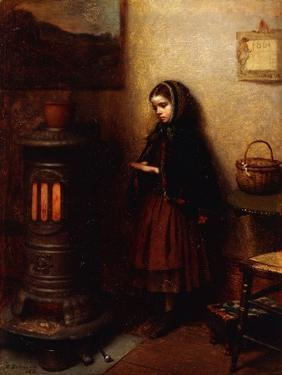Warming Her Hands, 1862 by Eastman Johnson