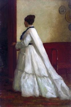 Woman in a White Dress by Eastman Johnson