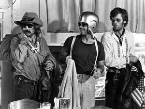 Easy Rider by DennisHopper with Dennis Hopper, Peter Fonda and Jack Nickolson, 1969 (b/w photo)
