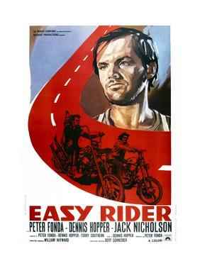 Easy Rider, Italian Poster Art, from Top: Jack Nicholson, Peter Fonda, Dennis Hopper, 1969