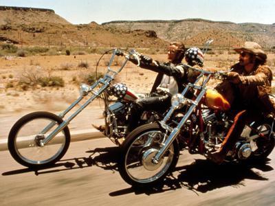 Painting by JG Easy Rider Biker Art Signed Motorcycle Poster Print Hopper Fonda
