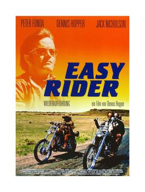 Easy Rider, Peter Fonda on German Poster Art, 1969