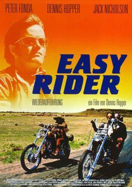 Easy Rider, Peter Fonda on German Poster Art, 1969