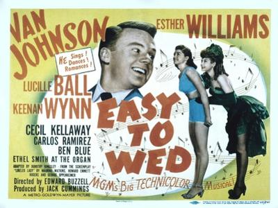 Easy to Wed, Van Johnson, Esther Williams, Lucille Ball, 1946