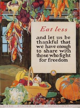 Eat Less and Let Us Be Thankful