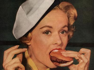 Eating Hamburgers, USA, 1950