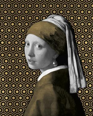 Gilded Earring (after Jan Vermeer) by Eccentric Accents