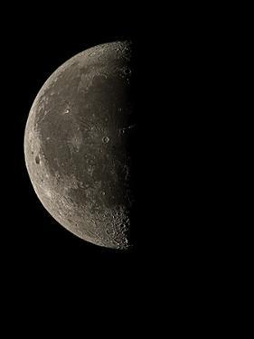 Waning Half Moon by Eckhard Slawik