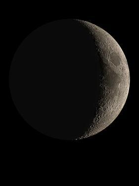 Waxing Crescent Moon by Eckhard Slawik