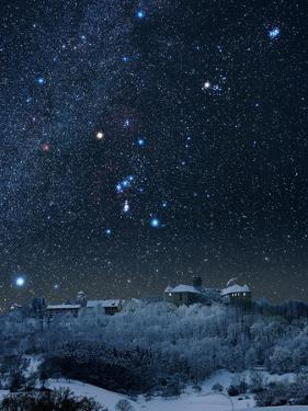 Winter Sky with Orion Constellation by Eckhard Slawik