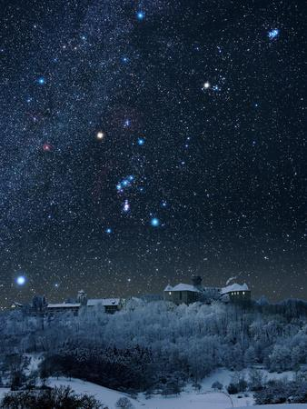 Winter Sky with Orion Constellation