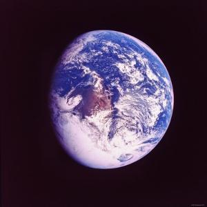 Eclipsed Earth Taken by Apollo 17 as It Traveled Toward Moon on NASA Lunar Landing Mission