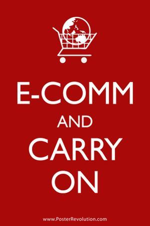 Ecom and Carry On Humor Print Poster