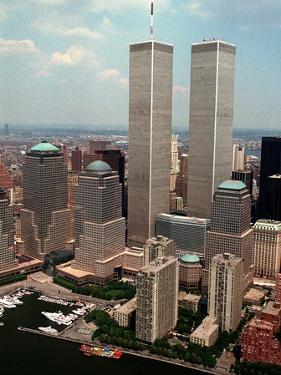 New York Landmarks Twin Towers by Ed Bailey
